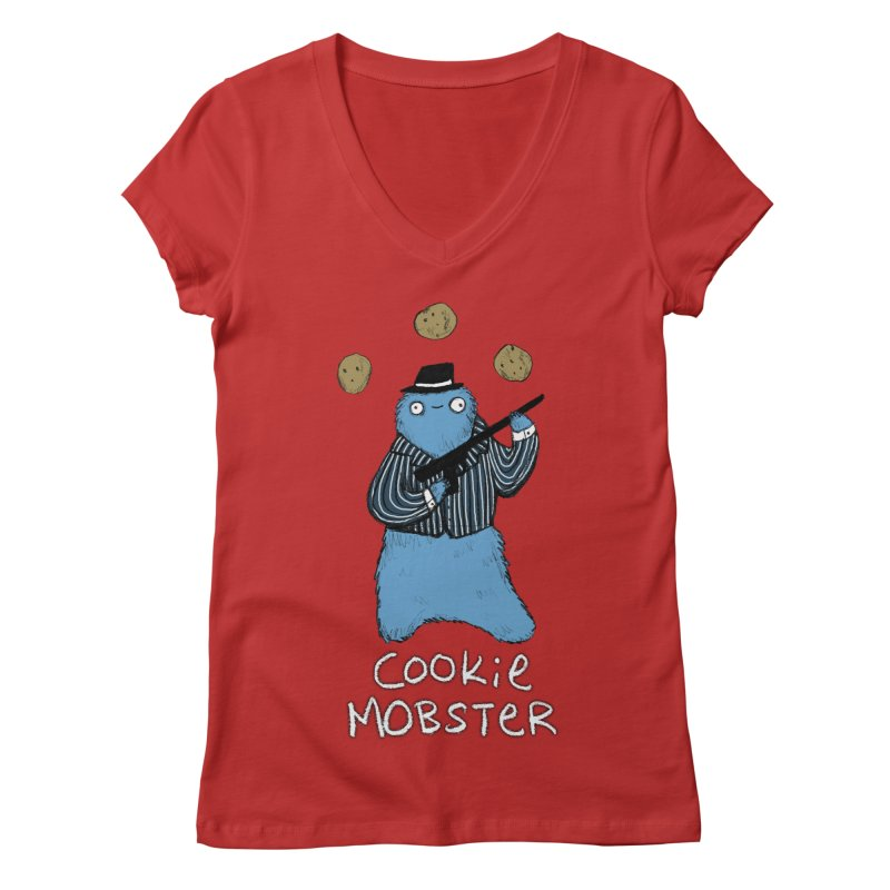 Cookie Mobster Women's Regular V-Neck by Sophie Corrigan's Artist Shop