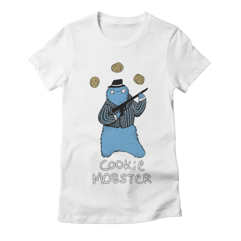 Cookie Mobster Women's Fitted T-Shirt by Sophie Corrigan's Artist Shop