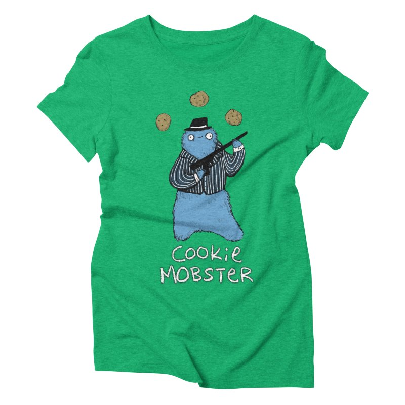 Cookie Mobster Women's Triblend T-Shirt by Sophie Corrigan's Artist Shop