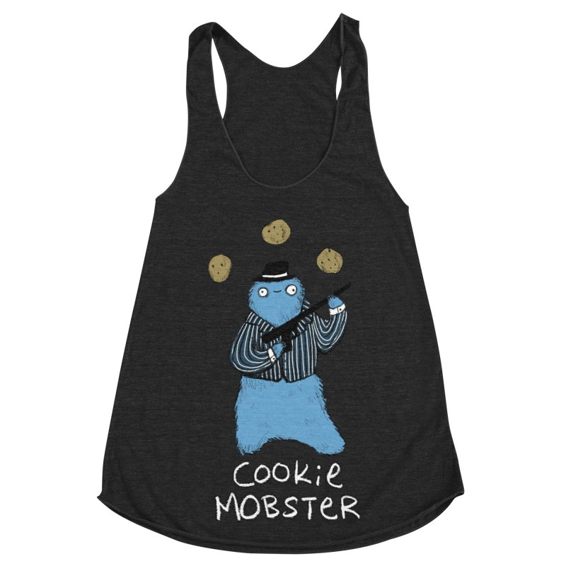 Cookie Mobster Women's Racerback Triblend Tank by Sophie Corrigan's Artist Shop