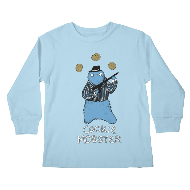 Cookie Mobster Kids Longsleeve T-Shirt by Sophie Corrigan's Artist Shop