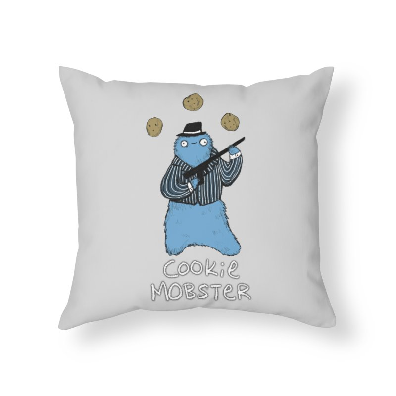 Cookie Mobster Home Throw Pillow by Sophie Corrigan's Artist Shop
