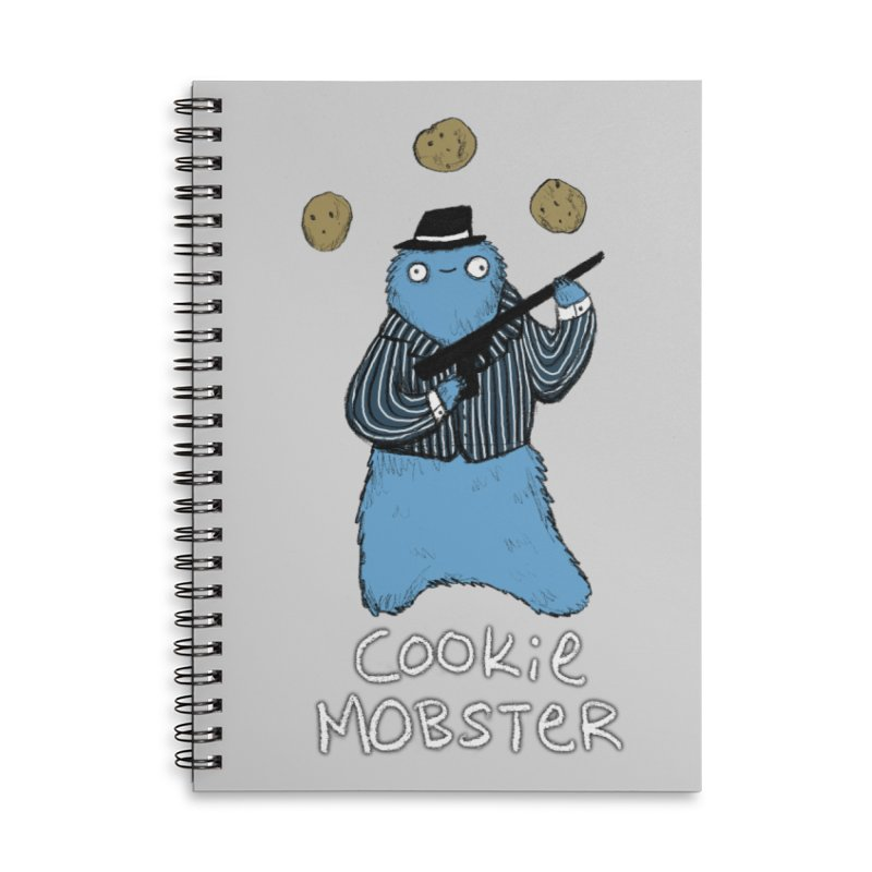 Cookie Mobster Accessories Lined Spiral Notebook by Sophie Corrigan's Artist Shop