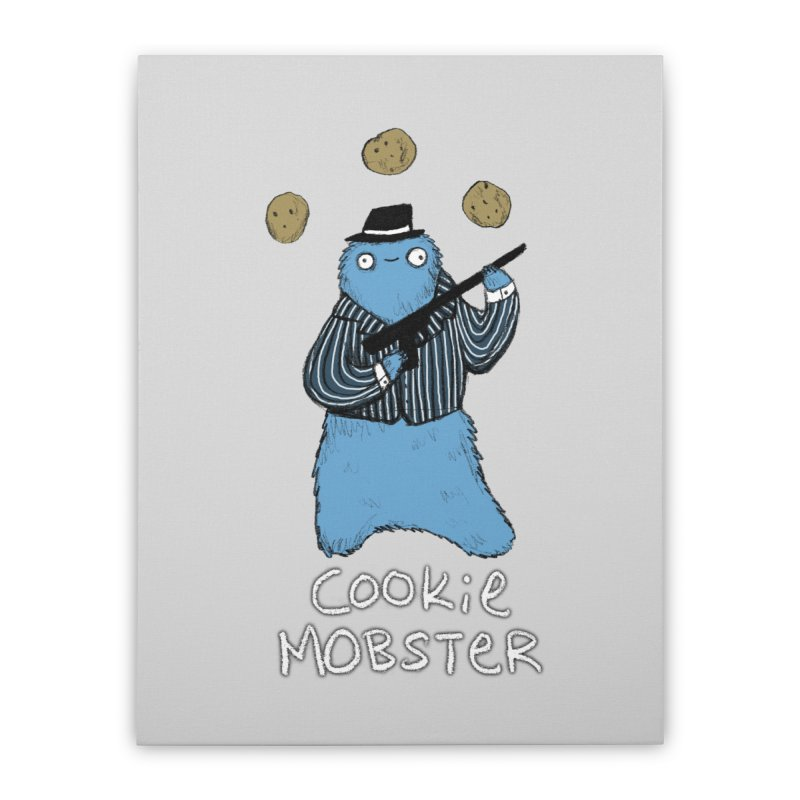 Cookie Mobster Home Stretched Canvas by Sophie Corrigan's Artist Shop