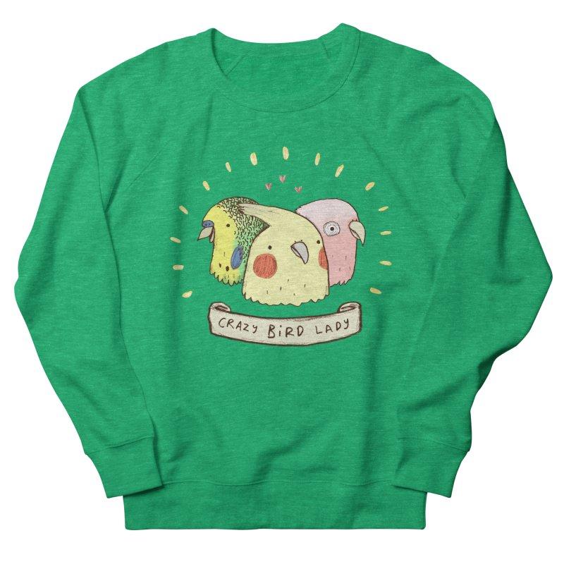 Crazy Bird Lady Women's Sweatshirt by Sophie Corrigan's Artist Shop