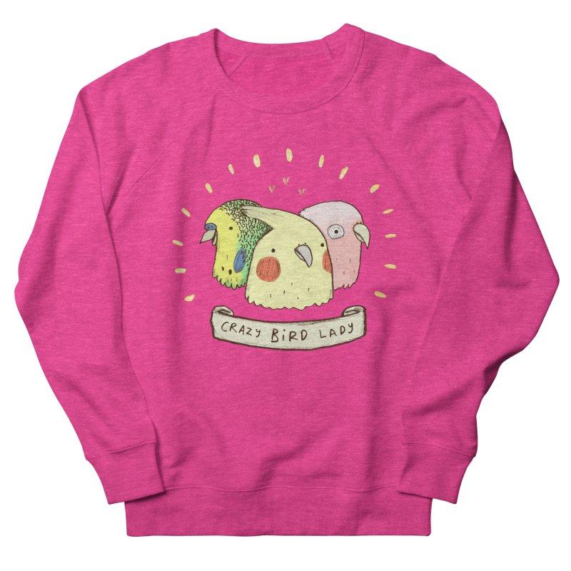 Crazy Bird Lady Women's French Terry Sweatshirt by Sophie Corrigan's Artist Shop