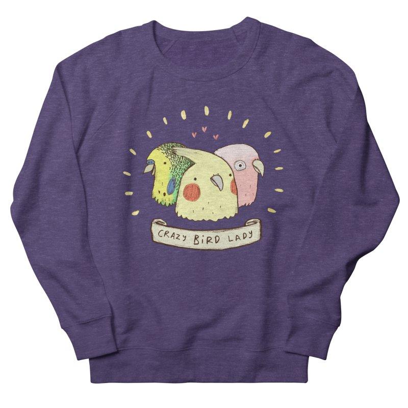 Crazy Bird Lady Men's Sweatshirt by Sophie Corrigan's Artist Shop