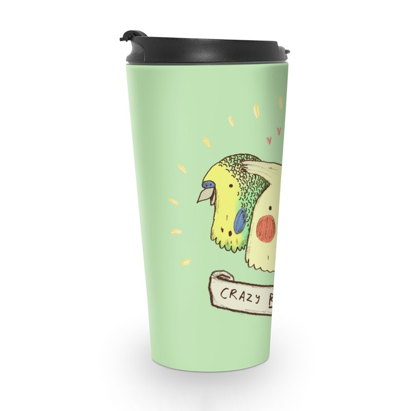 Crazy Bird Lady Accessories Travel Mug by Sophie Corrigan's Artist Shop