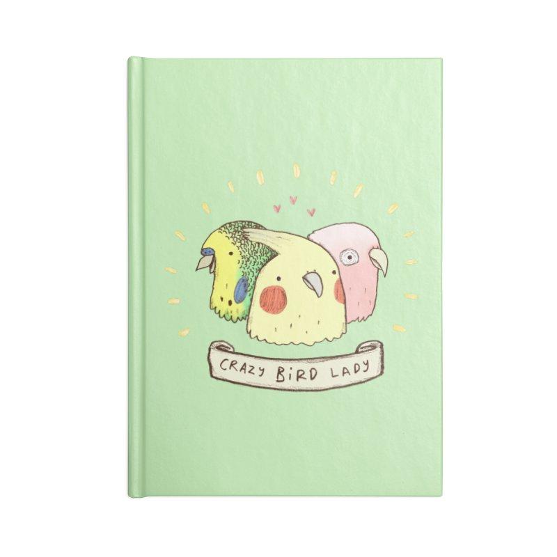 Crazy Bird Lady Accessories Blank Journal Notebook by Sophie Corrigan's Artist Shop