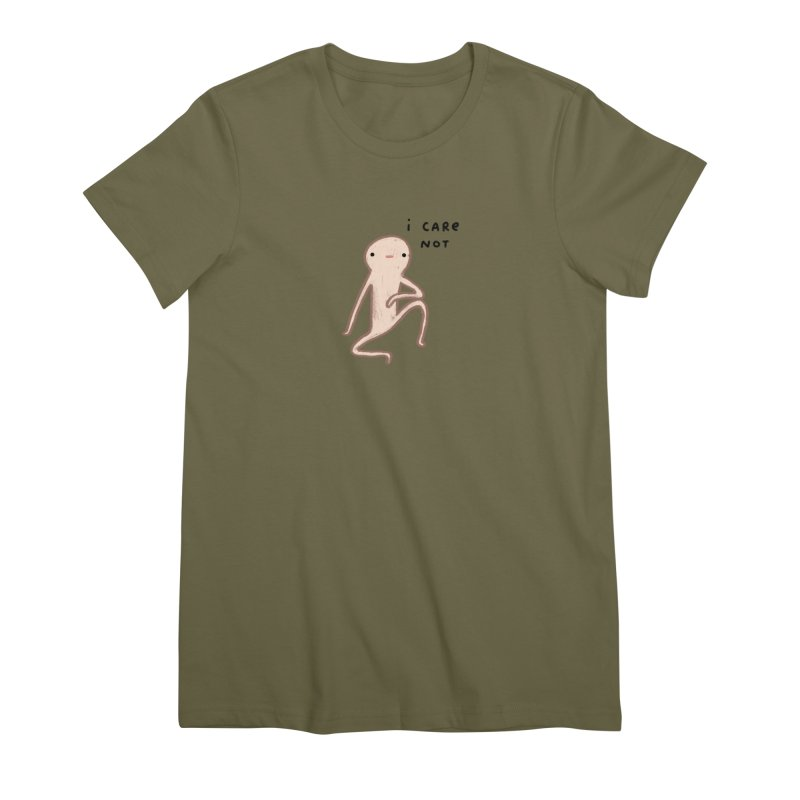 Honest Blob Cares Not Women's Premium T-Shirt by Sophie Corrigan's Artist Shop