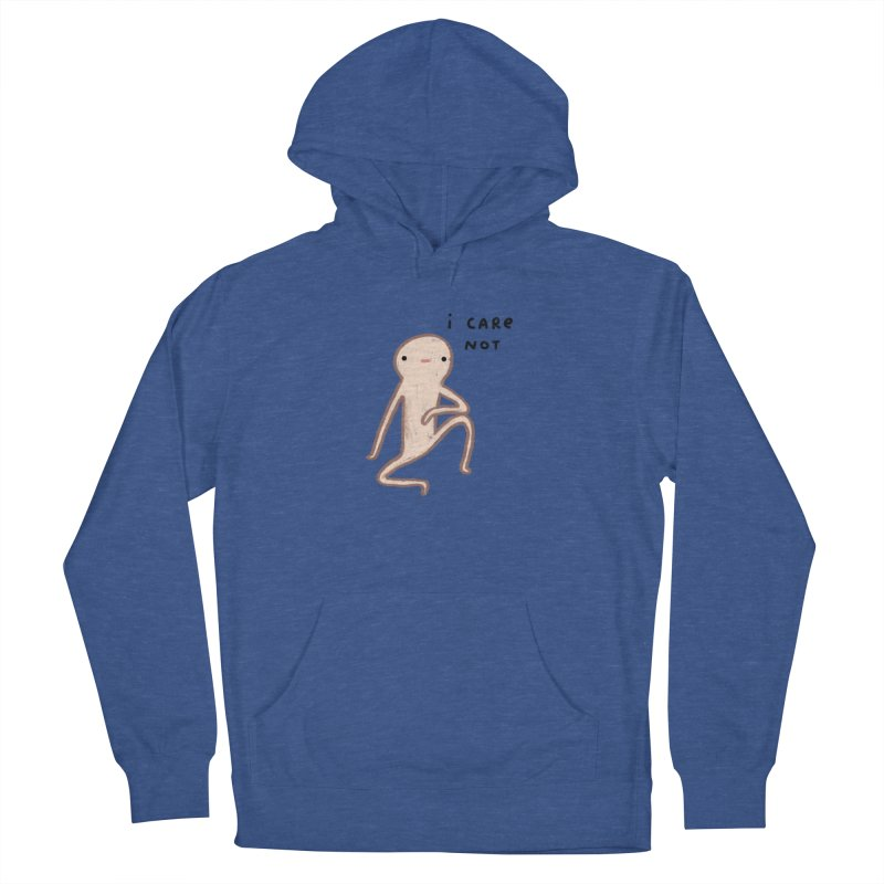 Honest Blob Cares Not Men's French Terry Pullover Hoody by Sophie Corrigan's Artist Shop