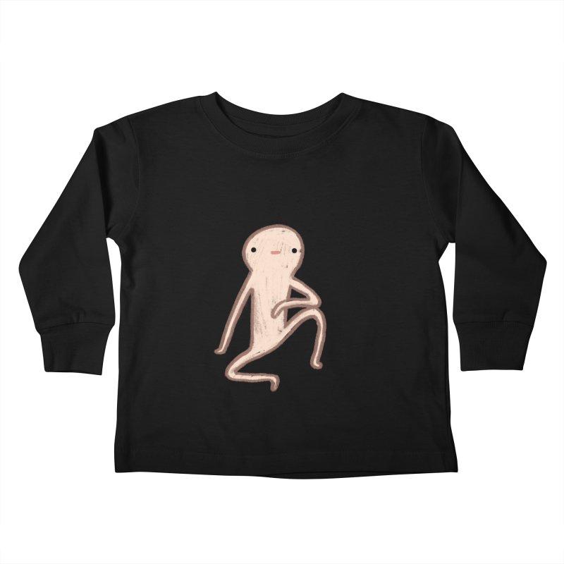 Honest Blob Cares Not Kids Toddler Longsleeve T-Shirt by Sophie Corrigan's Artist Shop