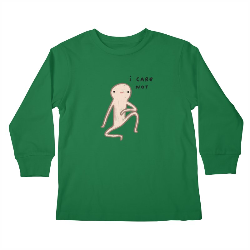Honest Blob Cares Not Kids Longsleeve T-Shirt by Sophie Corrigan's Artist Shop