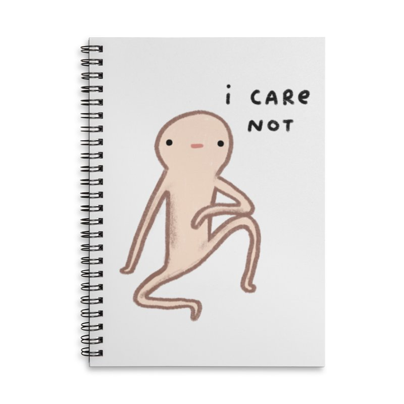 Honest Blob Cares Not Accessories Lined Spiral Notebook by Sophie Corrigan's Artist Shop