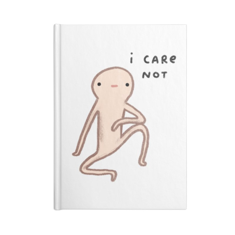 Honest Blob Cares Not Accessories Lined Journal Notebook by Sophie Corrigan's Artist Shop