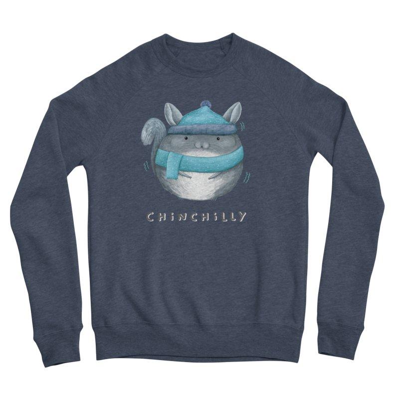 Chinchilly Men's Sponge Fleece Sweatshirt by Sophie Corrigan's Artist Shop