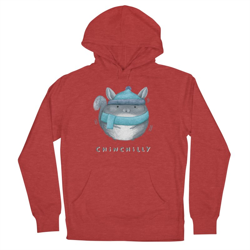 Chinchilly Men's French Terry Pullover Hoody by Sophie Corrigan's Artist Shop