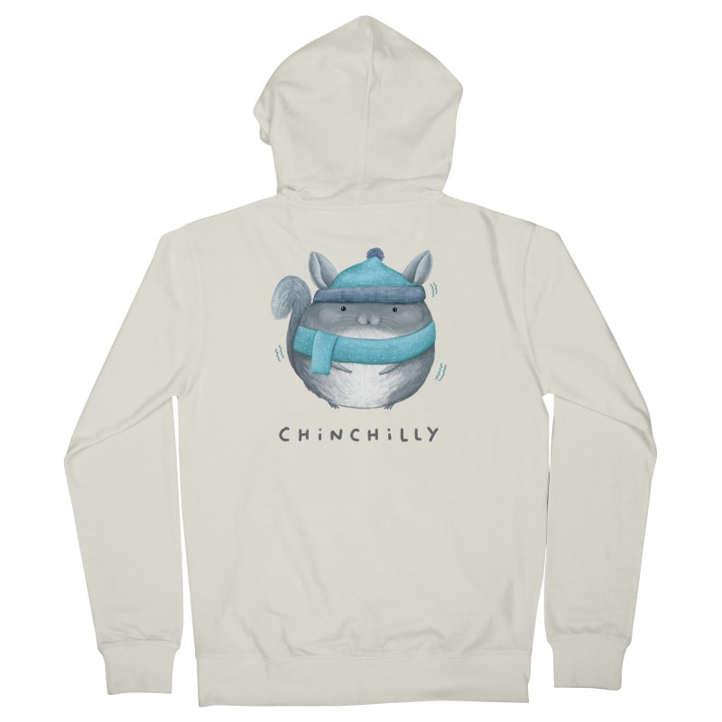 Chinchilly Women's French Terry Zip-Up Hoody by Sophie Corrigan's Artist Shop