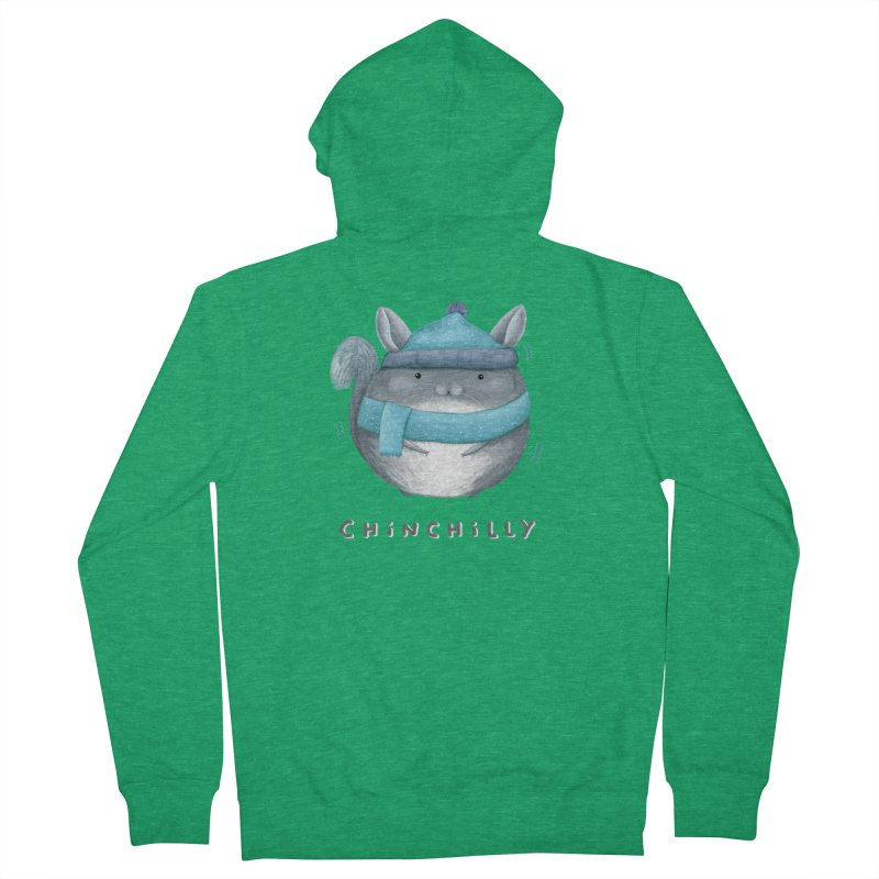 Chinchilly Men's French Terry Zip-Up Hoody by Sophie Corrigan's Artist Shop