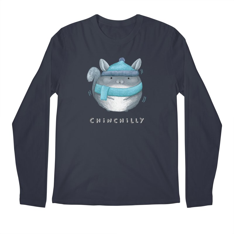 Chinchilly Men's Regular Longsleeve T-Shirt by Sophie Corrigan's Artist Shop