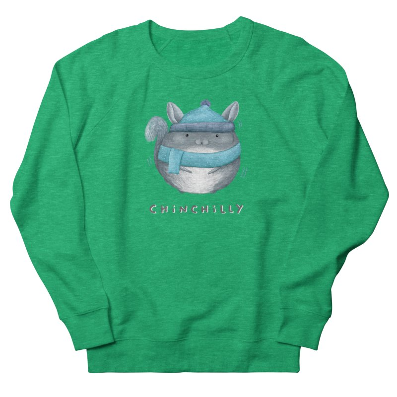 Chinchilly Women's French Terry Sweatshirt by Sophie Corrigan's Artist Shop
