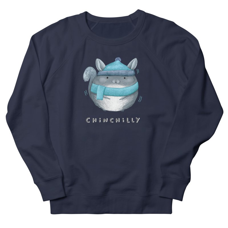 Chinchilly Men's French Terry Sweatshirt by Sophie Corrigan's Artist Shop