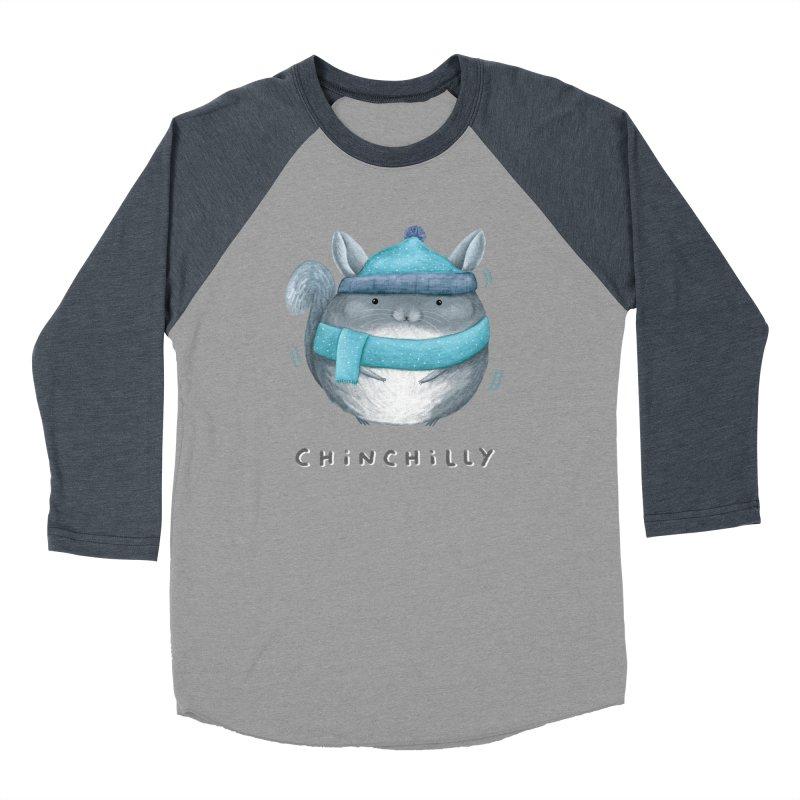 Chinchilly Men's Baseball Triblend Longsleeve T-Shirt by Sophie Corrigan's Artist Shop