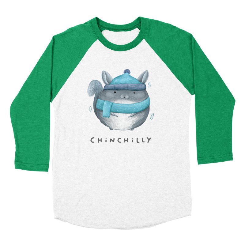 Chinchilly Men's Baseball Triblend Longsleeve T-Shirt by Sophie Corrigan's Artist Shop