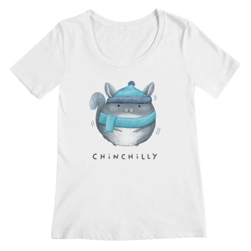 Chinchilly Women's Regular Scoop Neck by Sophie Corrigan's Artist Shop