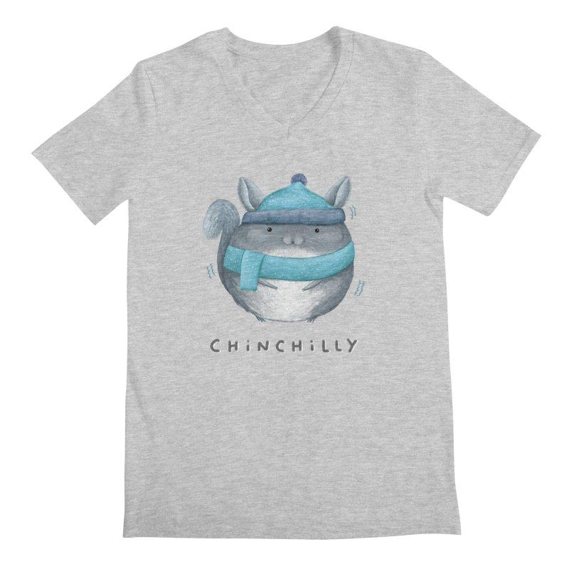Chinchilly Men's Regular V-Neck by Sophie Corrigan's Artist Shop
