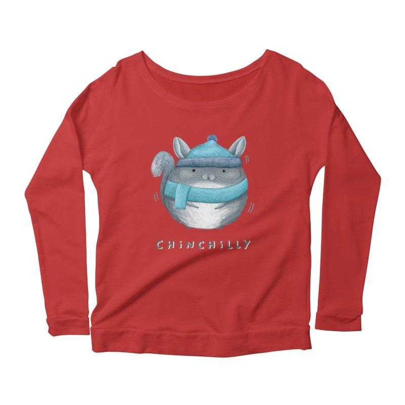 Chinchilly Women's Scoop Neck Longsleeve T-Shirt by Sophie Corrigan's Artist Shop