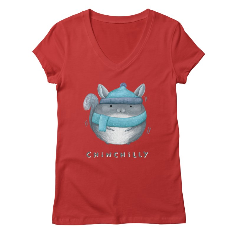 Chinchilly Women's Regular V-Neck by Sophie Corrigan's Artist Shop