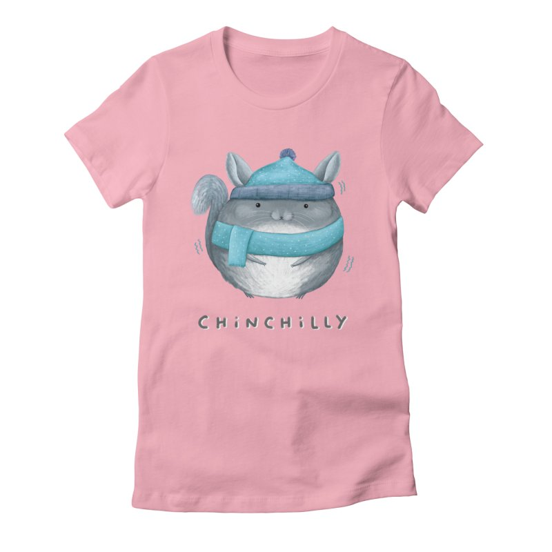 Chinchilly Women's Fitted T-Shirt by Sophie Corrigan's Artist Shop