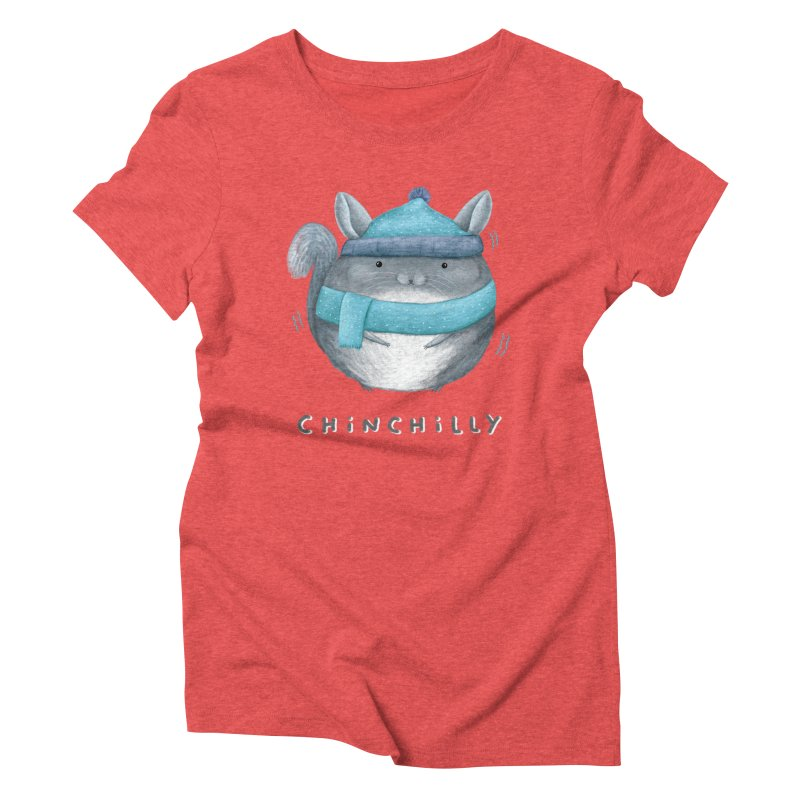 Chinchilly Women's Triblend T-Shirt by Sophie Corrigan's Artist Shop