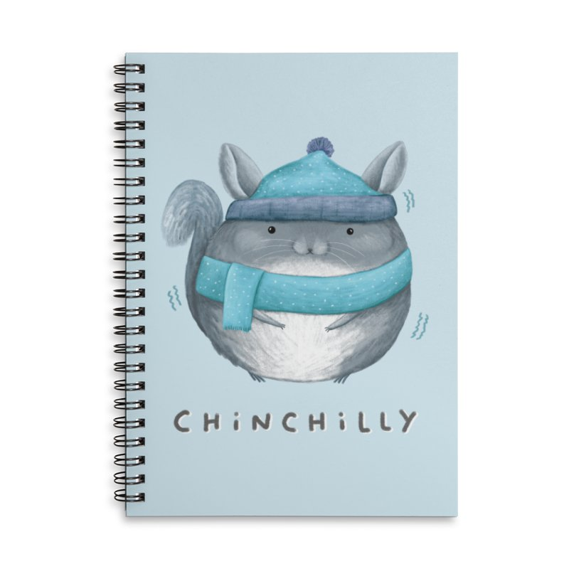 Chinchilly Accessories Lined Spiral Notebook by Sophie Corrigan's Artist Shop
