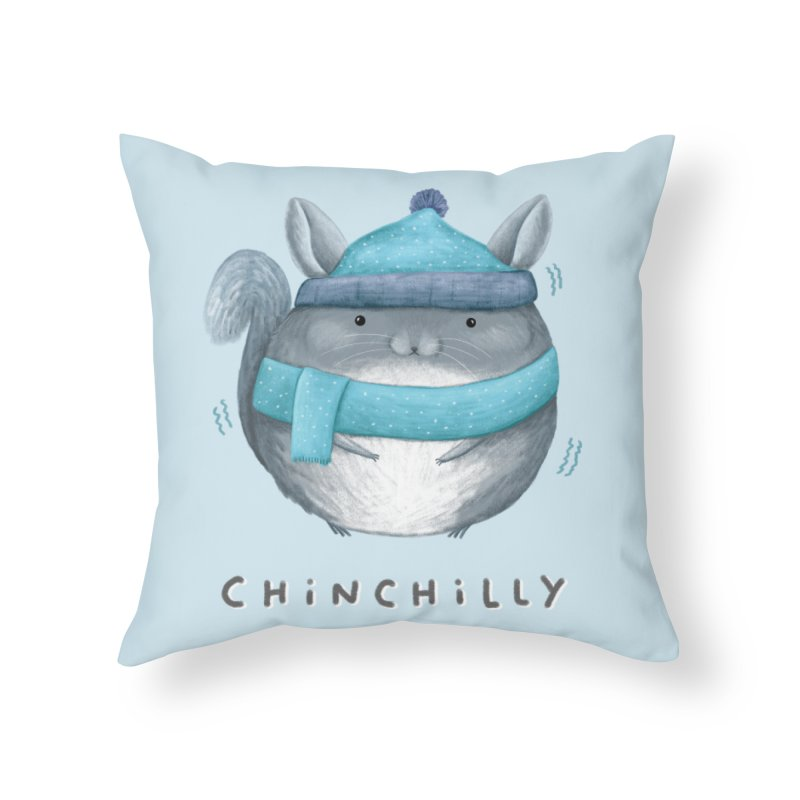 Chinchilly Home Throw Pillow by Sophie Corrigan's Artist Shop