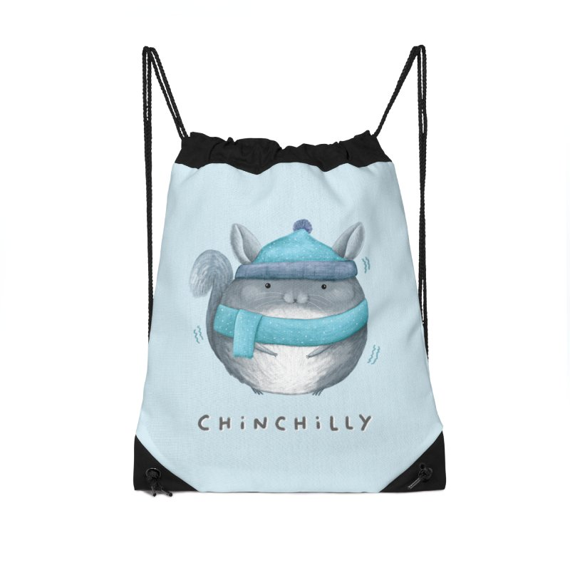 Chinchilly Accessories Drawstring Bag Bag by Sophie Corrigan's Artist Shop