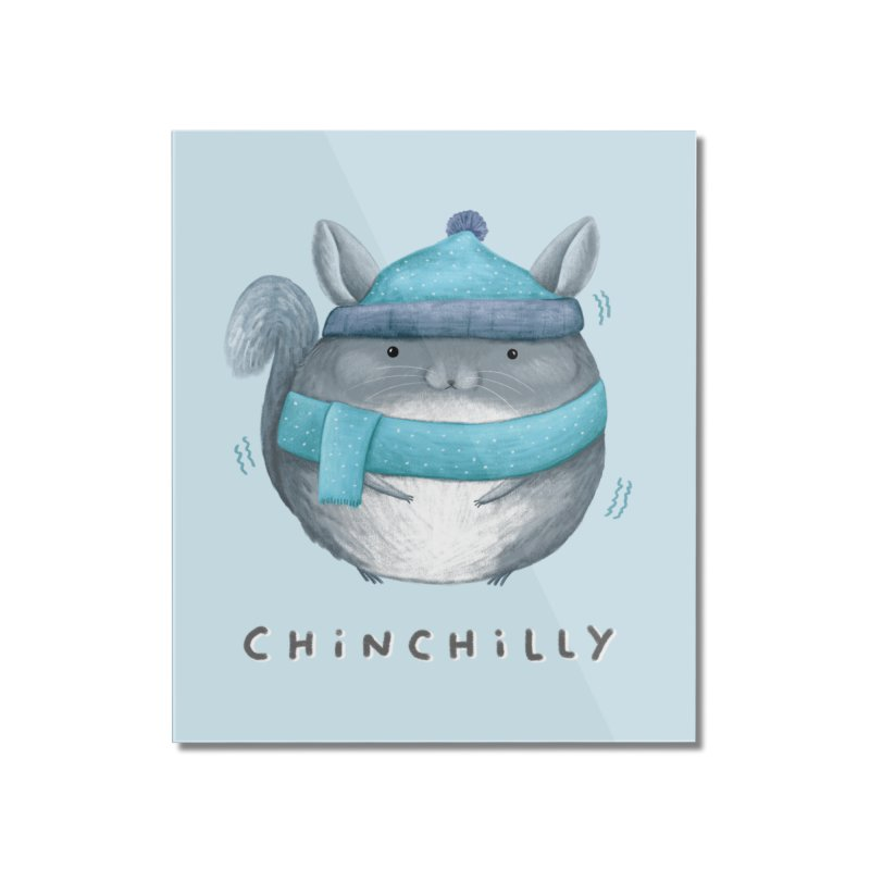 Chinchilly Home Mounted Acrylic Print by Sophie Corrigan's Artist Shop