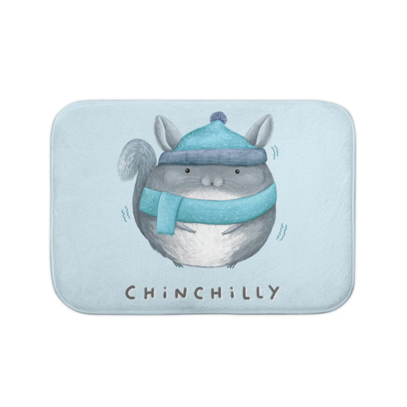 Chinchilly Home Bath Mat by Sophie Corrigan's Artist Shop