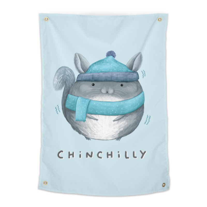Chinchilly Home Tapestry by Sophie Corrigan's Artist Shop