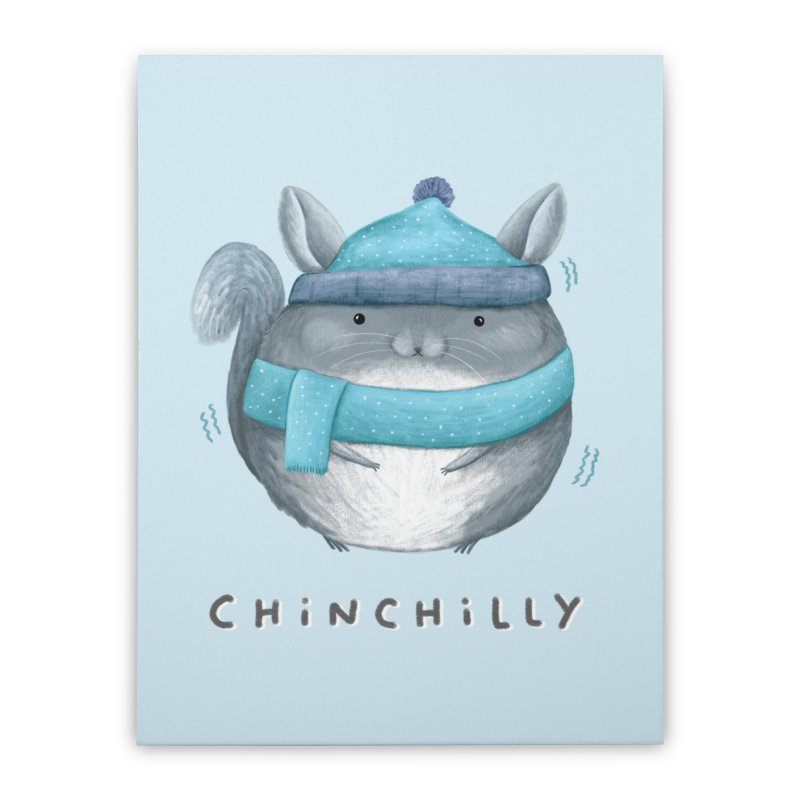 Chinchilly Home Stretched Canvas by Sophie Corrigan's Artist Shop