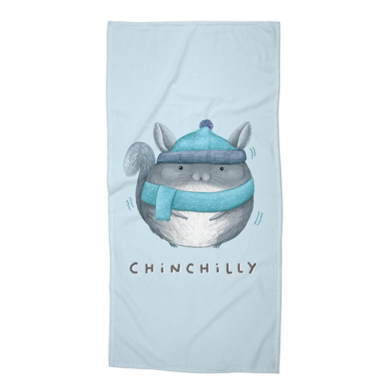 Chinchilly Accessories Beach Towel by Sophie Corrigan's Artist Shop