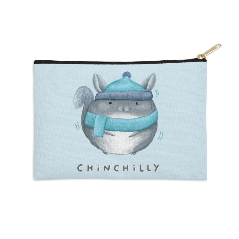 Chinchilly Accessories Zip Pouch by Sophie Corrigan's Artist Shop