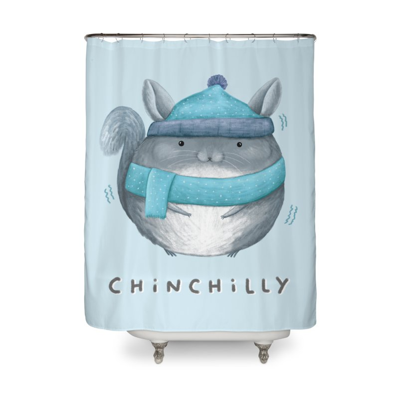Chinchilly Home Shower Curtain by Sophie Corrigan's Artist Shop