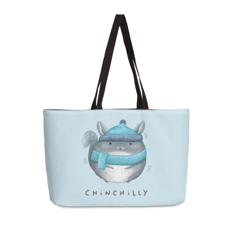 Chinchilly Accessories Weekender Bag Bag by Sophie Corrigan's Artist Shop