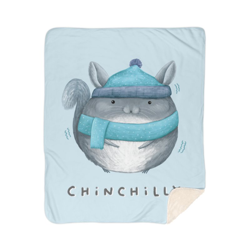 Chinchilly Home Sherpa Blanket Blanket by Sophie Corrigan's Artist Shop