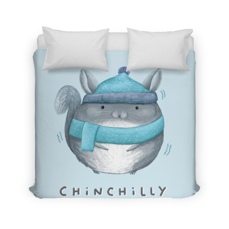 Chinchilly Home Duvet by Sophie Corrigan's Artist Shop