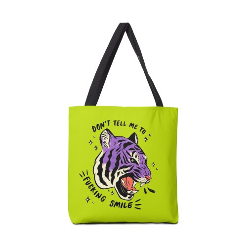 Design for Don't Tell Me to Smile (purple tiger)
