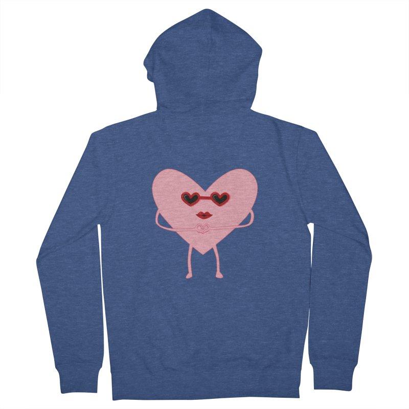 I Heart You Men's Zip-Up Hoody by katie creates