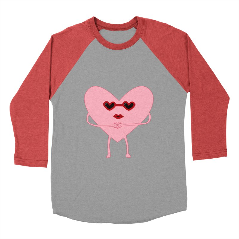 I Heart You Men's Baseball Triblend T-Shirt by katie creates